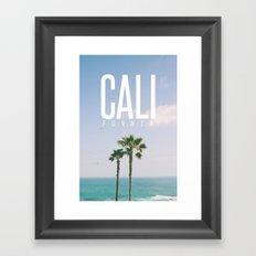 CALI FORNIA Framed Art Print