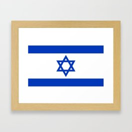 Israel Flag - High Quality image Framed Art Print