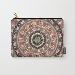 Cat Yoga Medallion Carry-All Pouch
