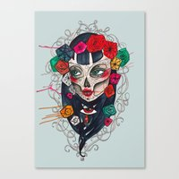 mexican Canvas Prints featuring Mexican SK by LucreziaU's Illustration