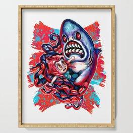 Sharktopus Attack ! Serving Tray