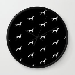 DALMATIANS ((black)) Wall Clock