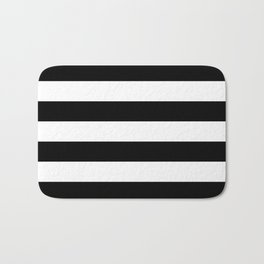 Stripe Black & White Horizontal Bath Mat