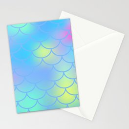 Turquoise Mermaid Pattern Stationery Cards