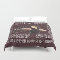 archer Duvet Covers featuring The Archer by MacGuffin Designs