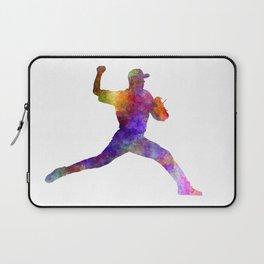 Baseball player throwing a ball Laptop Sleeve