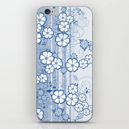 Abstract flowers with background iPhone Skin