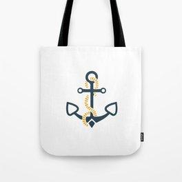 Anchor Ahoi Sailorboat marina Tote Bag