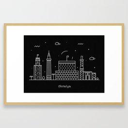 Antalya Minimalist Skyline Drawing Framed Art Print