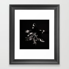 Gaping Black Framed Art Print