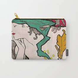 Vintage Alphonse Mucha Poster Girl Carry-All Pouch