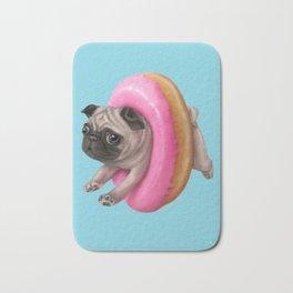 Donut Pug Bath Mat