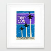 top gun Framed Art Prints featuring Top Gun by Mark Welser