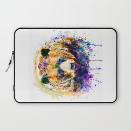 Colorful Grizzly Bear Laptop Sleeve