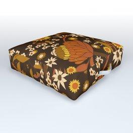 Australian Natives Wattle Gold Outdoor Floor Cushion