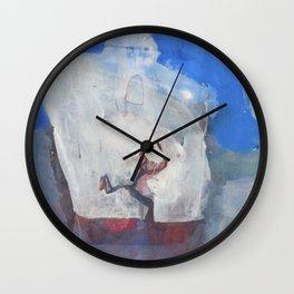 SANTORINI-MYKONOS Wall Clock