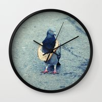 hiphop Wall Clocks featuring HipHop Dove Wait by Sigurdfisk