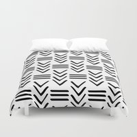 tribal Duvet Covers featuring Tribal  by HeyAle!