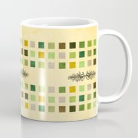 flora Mugs featuring Flora by Diogo Verissimo