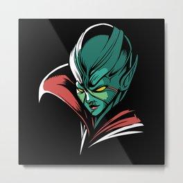Dark Alien Queen Space Design Metal Print