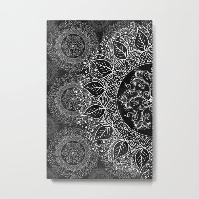 Mandaleaf - Black a lot Metal Print
