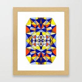 Geometric art buzz Framed Art Print