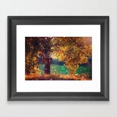 ten million fireflies Framed Art Print