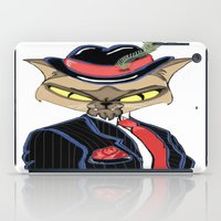 gangster iPad Cases featuring Gangster Kitty by J&C Creations