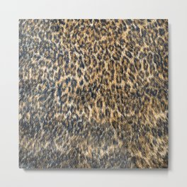 Leopard Cheetah Fur Wildlife Print Pattern Metal Print