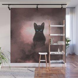Mystic Black Cat  Wall Mural