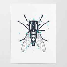Cartridgebug of Mixing on Turntable Poster