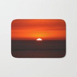 Sunset Over the Pacific Ocean Bath Mat