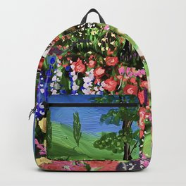 Beautiful Cottage in a Garden Backpack