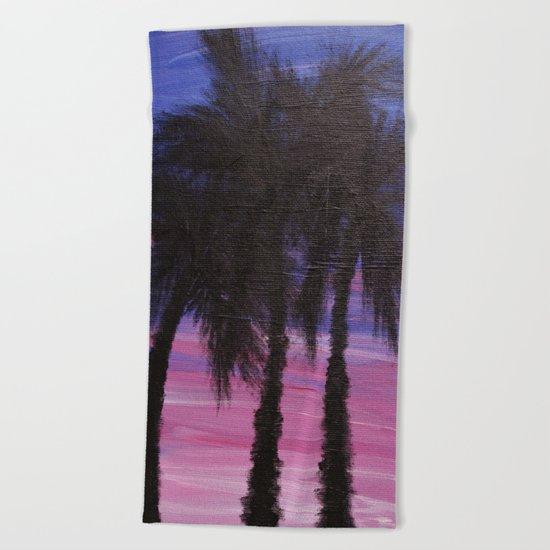 Purple Paradise  Beach Towel