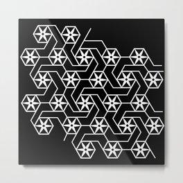 Floral Geometric Pattern Metal Print