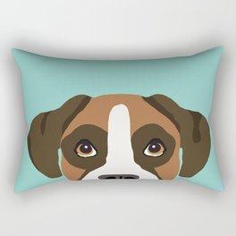 Boxer pet portrait cute dog lover rescue dog lover Boxer portrait dog breeds Rectangular Pillow
