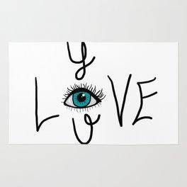 Eye Love You Rug