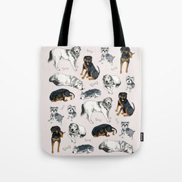 Puppies and Bones Tote Bag