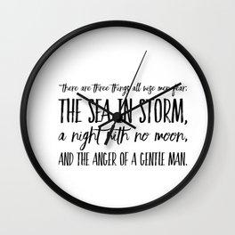 Wise Man's Fear Wall Clock
