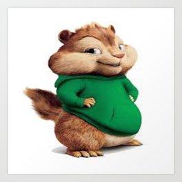 Theodore the cutes chipmunk Kunstdrucke