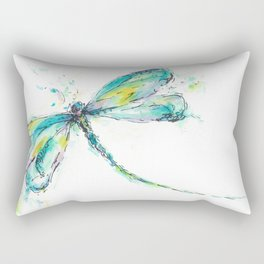 Watercolor Dragonfly Rectangular Pillow