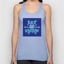 Let It Snow classic winter snowflake pattern Unisex Tank Top