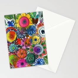 happy flowers: in your garden Stationery Cards