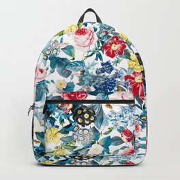 Spring-Summer Botanical Pattern Backpack