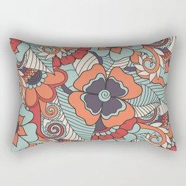 Colorful Vintage Floral Pattern Rectangular Pillow