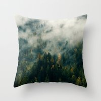 fog Throw Pillows featuring Fog by EclipseLio