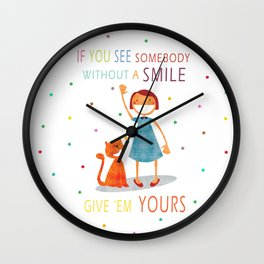 Share The Happiness Wall Clock