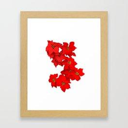 Red Flowers Blossom Framed Art Print