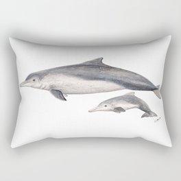 Australian humpback dolphin (Sousa sahulensis) with baby Rectangular Pillow