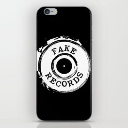 Fake Records iPhone Skin